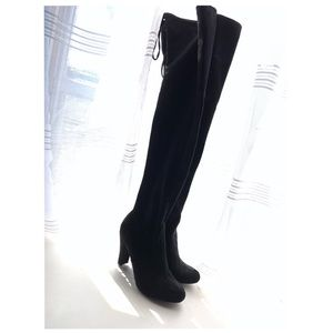 Charlotte Russe knee high heeled boots